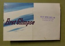 1941 FORD SALES BROCHURE Fold Out Poster VALLEY MOTOR SALES Charleston W VA