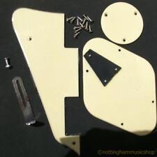 Guitarra Eléctrica Crema plástica + Piezas De Metal Lp Pickguard Switch Placa Soporte Posterior