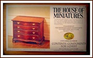 DOLL HOUSE OF MINIATURES SERPENTINE CHEST, CHARMING ANTIQUE REPLICA, COLLECTIBLE