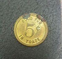USA. Trade Token. Joy Bros. Meeker, Colorado. Good for 5 Cents.