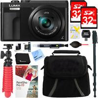 Panasonic LUMIX DMC-ZS70K Digital Camera (Black) + 32GB Dual Memory Bundle