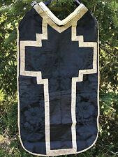 Chape Chasuble Liturgique Broderie Prêtre Aube Ancien 12