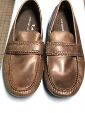John Varvatos Men's Star Driver Stitch Moccasin Brown Leather Size 8.5