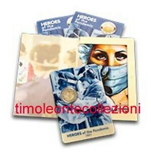 Malta  2€ 2021 coincard  Eroi della Pandemia   prevendita