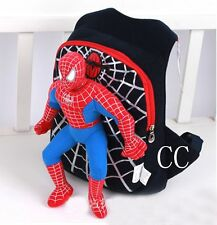 Black Cute 3D spiderman boys school bag backpack children bags for school