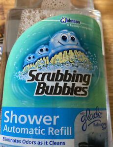 NEW Scrubbing Bubbles Automatic Shower Cleaner Refill 34oz. Glade Refreshing Spa