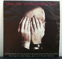 "Elton John Original 7"" Vinyl Single of Sacrifice and Healing Hands. UK EJS 22"