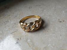 Goldring 333er Gold  mit 2 Diamanten  Gr.19 mm