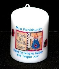 Teacher gift  personalised Angel thank you present Cellini Candles #6