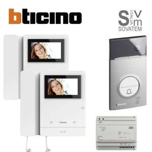 KIT VIDEOCITOFONO BIFAMILIARE BTICINO LINEA 3000 VIDEO CLASSE 100V16M CORNETTA