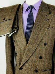40R NWOT Missoni Uomo Italy Mens Dbl Breasted Flannel Wool Suit Pants 32 Italy50