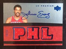 JULIUS ERVING DR J 2007-08 UD PREMIER Triple Jersey On Card Auto / 50 Mt Signed