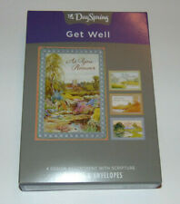 BOX 12 Christian GET WELL Greeting Cards, Bible Scripture & Inspirational Verse