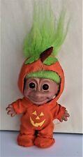 Vintage 4 ½� Russ Jack-O-Lantern Halloween Troll Doll with Green Hair
