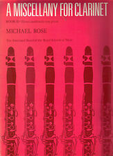 A Miscellany For CLARINET - Book 2 - Moderately Easy with Piano Accompaniment