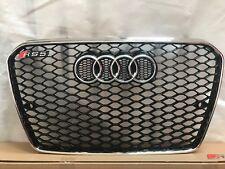 Audi A5 S5-RS5 Style Black Mesh brillant calandre Chrome Cadre Chrome Anneaux 13 - 15