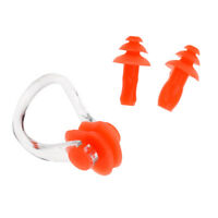 Reusable Soft Silicone Swimming Set Ear Plugs + Nose Clip Pool Accessories