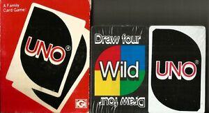 Vintage 1979 SEALED Uno Card Game Complete Deck Of Cards