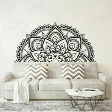 Half Mandala Lotus Flower Wall Sticker Vinyl Home Décor For Living Room Bedroom