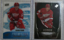 11-12 Rookie Card Lot Gustav Nyquist Ice /1999 SPX /499 Red Wing San Jose Sharks