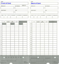 (50) Time Cards for uPunch HN2000 / HN4000 / HN4500 / HN6000 (HNTC2 Compatible)