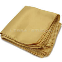 10Pcs Wedding Party Dinner Tableware Polyester Polyester Cloth Napkins Gold