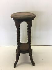 Victorian Carved Hand Made Mahogany WoodOpen Barley Twist Plant Stand Table