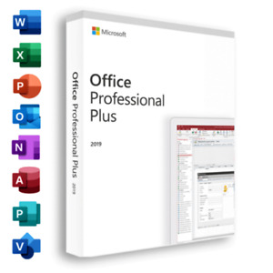 ✔MS®Office Pro 2019 Plus 32-64 Bits Professional 1 PC Genuine License Key✔