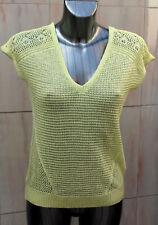 Marks and Spencer V Neck Lemon Knitted Top Size 16