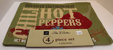 NEW NWT Set of 4 Placemats with Chili Hot Pepper Design with Red River Southern