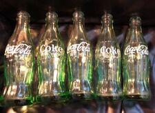 Vintage Coca-Cola 6 1/2 oz Embossed Glass Soda Pop Bottle - In lot of 5