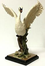 Florence Giuseppe Armani Large Flying Swan Italy Art Sculpture Figurine 0716S