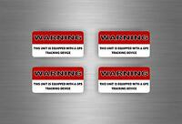 4x Sticker gps alarm system warning decal anti theft car vehicle security vinyl