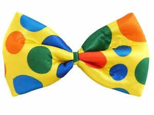 Jumbo Bow Tie Spotted Polka Dots Clown Fancy Dress Party Costume Accessories