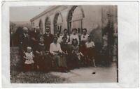 Ansichtskarte/Fotokarte - Gasthof Lübau (Rabenau) - Familienfoto Besitzer? 1921