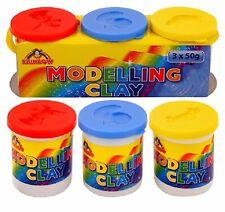 2 x 3 vasche 50 G Modellazione Argilla Rosso Blu Giallo Bambini Giocattolo creativi Stampi assortiti