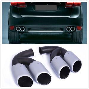 Rear Exhaust Tip Muffler Long Pipe End For 2011-14 Porsche Cayenne V8 Engine