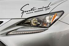 Sports Mind Sticker Fits Honda Civic Accord CR-V Decal Vinyl Premium Qaulity GV7