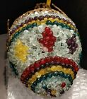 """17"""" Multi-Colored European Empire Style Crystal Hanging Ceiling Dome Pendant"""