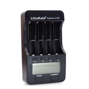 LiitoKala Lii-500 4 Slots Smart intelligentes Ladegerät für 3.7V H6E1
