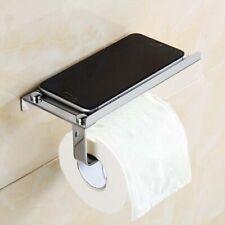 Toilet Tissue Paper Holder Mobile Phone Storage Shelf Holders Wall Mounted Rack