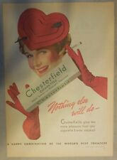Chesterfield Cigarette Ad: Nothing Else Will Do ! Tabloid Page 1939
