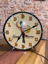 "Antique Old Drum Blended Whiskey Advertising Drum Clock, 11.5""Dia"