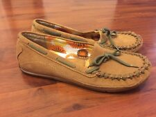 Women's Size 8 Mia Moccasin Slip On Flats Shoes Loafers Leather Tan