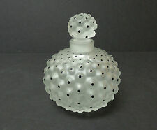 "LALIQUE FROSTED CRYSTAL ""CACTUS"" No. 1 PERFUME BOTTLE with ENAMEL DECORATION"