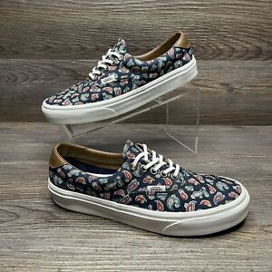 Vans Off The Wall Shoes Mens Navy Paisley Lace Up Skate Sneaker Size 7