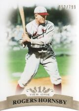 2011 Topps Tier One Baseball #70 Rogers Hornsby 052/799 St. Louis Cardinals