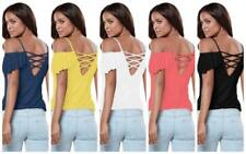 Party Short Sleeve Tops & Shirts for Women with Ruffle