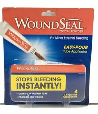 BRAND NEW🔥WOUNDSEAL Powder WOUND SEAL 4 Tubes ( 1 package ) Single Use