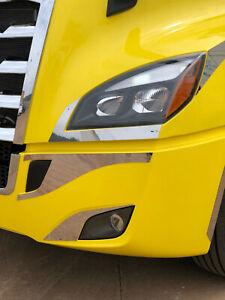 2018+ Freightliner Cascadia Pair Headlight Trim - New Bodystyle # 16567